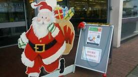 Father Christmas display board