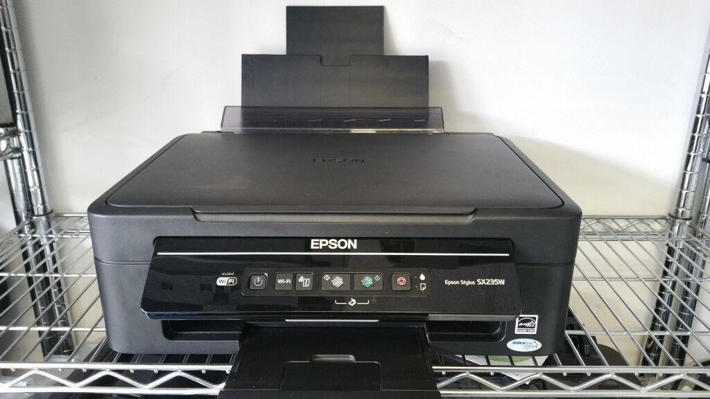 Epson Stylus Sx235W All-In-One Printer Wifi + 2 Full Set Ink Cartridges