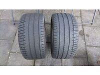2 X 255 35 18 Michelin Pilot Sport tyres