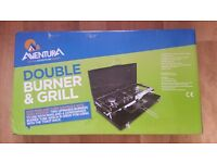 NEW!!Camping Double Gas Stove & Grill.