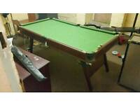 Small Pool/Snooker table well used.