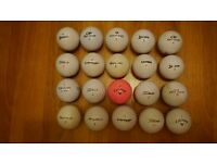 Batches of good quality 20 used golf balls