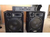 2 Ekho PA speakers and a SPL 1000 Amplifier
