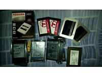 """Lots of SATA 2.5"""" Hard drives and SSD's for sale check out the listing Bulk buys available"""