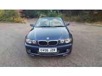 2006 BMW 3 series 2.0 blue 2dr convertible auto petrol MOT April2019 full service, leather seats