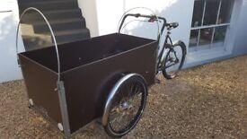 Cristiania cargo bike +30 (trike bicycle, like babboe big)