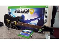 Guitar Hero Live + 6 Button Guitar + USB Dongle - BOXED