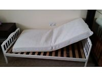 I have new children bet with new mattress with safety toddler bed rail for sale.