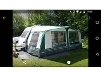 Pullman awning with inner sleeping area.