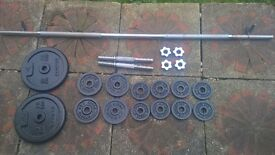 Quality weights, dumbbells, solid barbell