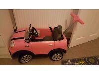 Pink Mini Cooper push along