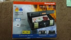 Honeywell Waterproof And Fireproof A4 Document Safe