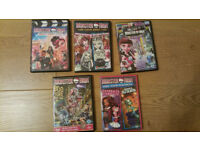 5 MONSTER HIGH DVD'S