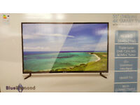 55 inch 4K Ultra HD Smart LED TV - 4 HDMIs, Blue Diamond branded - Brand new in the box