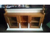 CABINET WITH GLASS 126cm/90cm