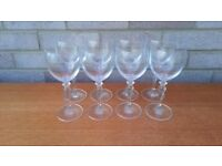 White wine glass x 8
