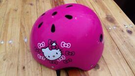 Girls Children's Pink Hello Kitty Bike Helmet for sale