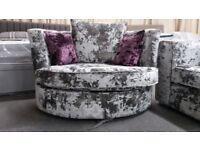 Lustro Swivel Cuddle Chair (Brand New)