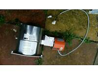 Exhaust flap.Dermayer with actuator