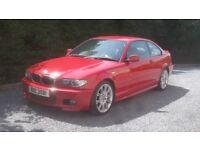 BMW E46 Imola red M Sport Coupe 320ci