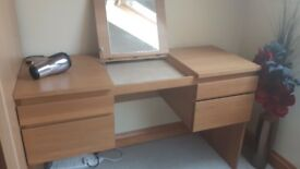Ikea dressing table with lift up lid with mirror