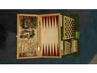 Chess draughts, backgammon board games