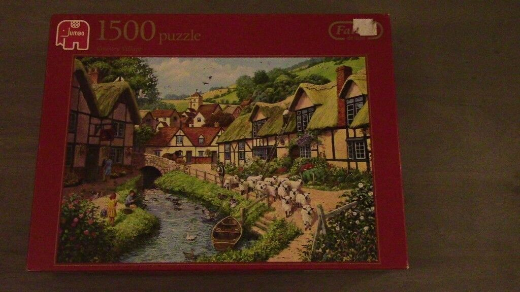 Falcon de Luxe Jigsaw/Puzzle - Country Village - 1500 Pieces