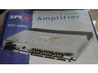 800 watt 4 channel amplifier as new in the box