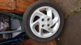 Wheel and tyre for escort rs turbo
