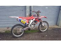 CRF 250 BREAKING PARTS 450 NOT RMZ, YZF, KXF, KTM
