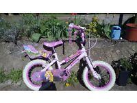 "Child's 14"" bicycle. Disney Princesses bike."