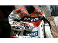 Repsol two piece leathers