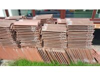 Marley Bold Roll Roof Tiles Terracotta Red - Reclaimed tiles