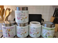 Born To Shop Canisters & Jars (Tea, Coffee, Sugar)