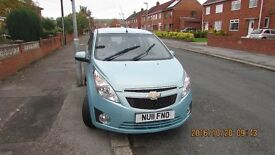 2011 chevrolet spark 1200cc 12 months mot low mileage. re advertised price redused