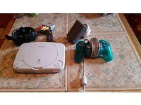 PSone + controller + 14 Games