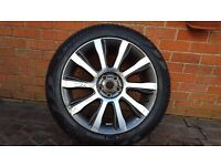 "OEM LAND RANGE ROVER AUTOBIOGRAPHY 21"" STYLE 5 SPARE ALLOY WHEEL CK52-1007-FA"