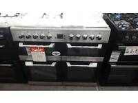 New graded Leisure 100cm dual fuel stainless steel range cooker with 12 months guarantee