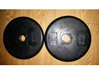 2x5kg rubber coated metal plates