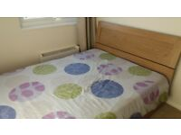 Double bed inclusive of double memory foam and reflex mattress. Excellent condition.