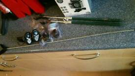 Fishing alarms and rod stands