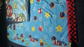 Pair of curtains/single bed sheet/duvet cover(pillow case not included )