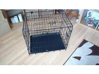 Medium size dog training cage crate