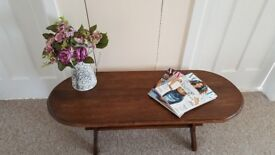 Solid Dark Oak Coffee Table in excellent condition