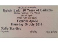 Erykah Badu - swap tickets 6th for 7th July, London