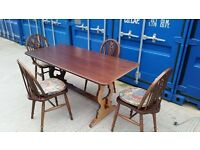 Wooden dining table and chairs - good condition / Delivery available