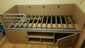 Single cabin storage bed +mattress