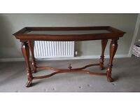 Stanley Furniture Oak Console Table