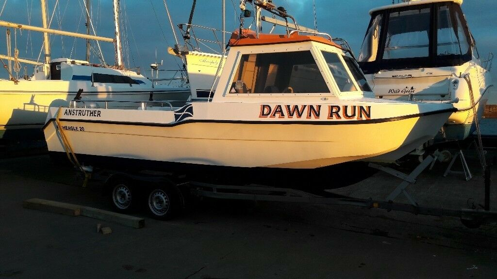 21 ft Fishing boat with Honda bf 75d four stroke with 380hrs .Commercial built hull .