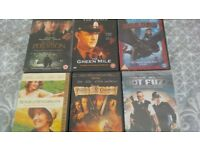 6 assorted DVDs
